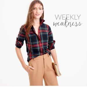 j.crew perfect stuart plaid shirt